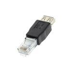 ADAPTADOR USB A FEMEA PARA RJ45 MACHO