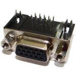 CONECTOR DB15  MACHO  HD 3 FILEIRA 90G